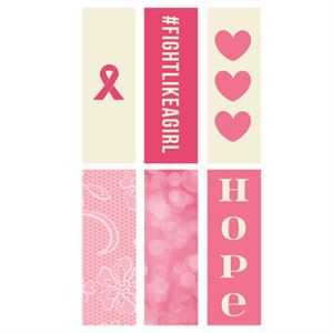 Picture of Breast Cancer Awareness Rectangle Locket Backdrops